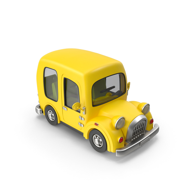 Toon Yellow Taxi PNG & PSD Images