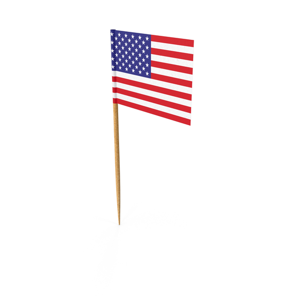 Toothpick America Flag Object