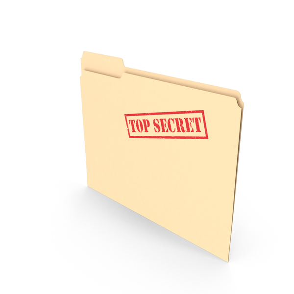 Top Secret Folder Empty Vertical PNG & PSD Images