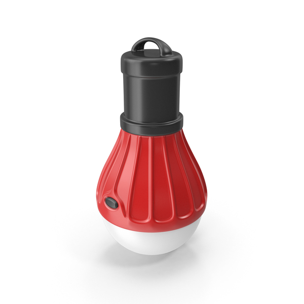 Tourist LED Lamp Red PNG & PSD Images