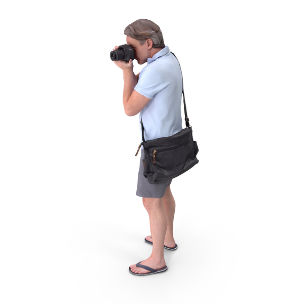 Tourist Man Posed PNG & PSD Images