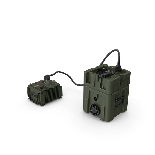 TOW Missile Guidance Set and Battery PNG & PSD Images