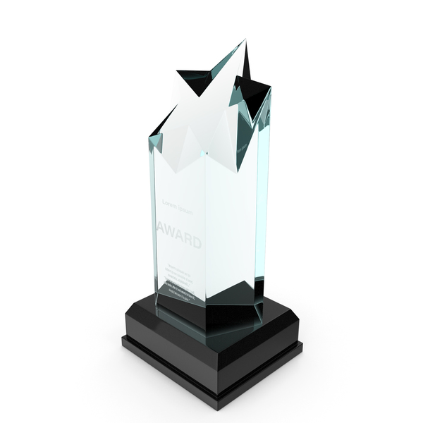 Towering Star Glass Award Trophy PNG & PSD Images