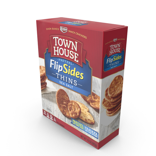 Town House Sea Salt FlipSides Thins Crackers PNG & PSD Images