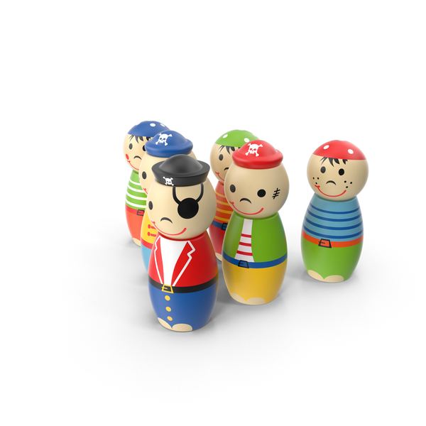 Toy Pirate Bowling Pins Object