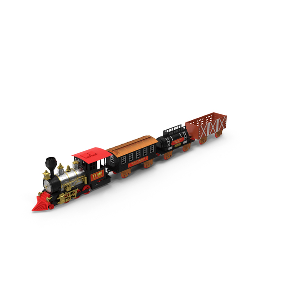 Toy Train with Wagons PNG & PSD Images