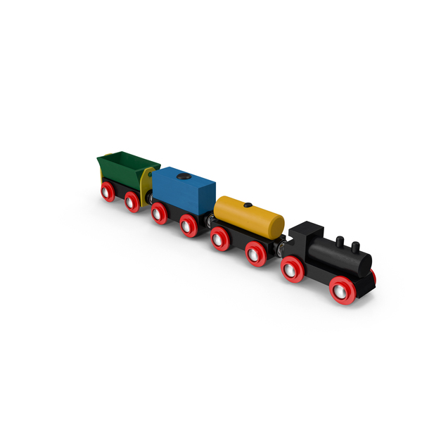 Toy Wooden Train PNG & PSD Images