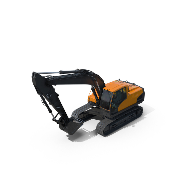 Tracked Excavator PNG & PSD Images