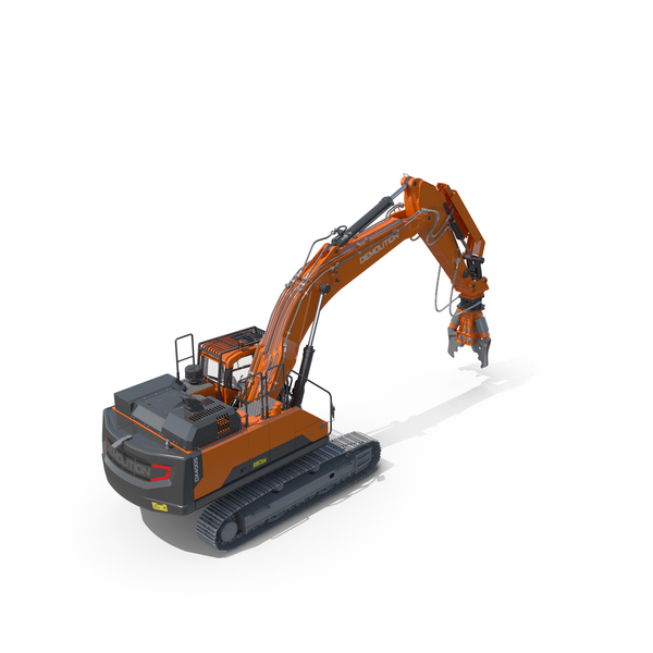 Tracked Excavator Demolition Equipment Generic PNG & PSD Images