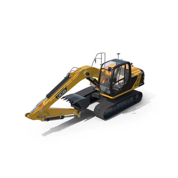 Tracked Excavator JCB JS130 PNG & PSD Images