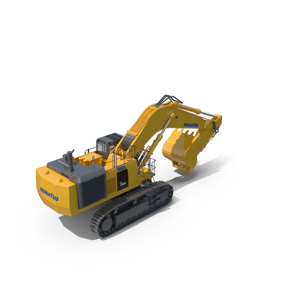 Tracked Excavator Komatsu PC1250 PC 1250 Construction Equipment PNG & PSD Images
