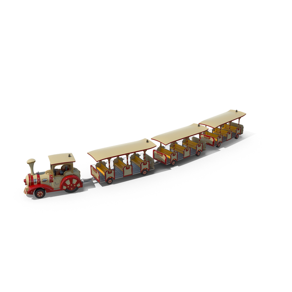 Tourist Trolley: Trackless Red Touristic Train PNG & PSD Images