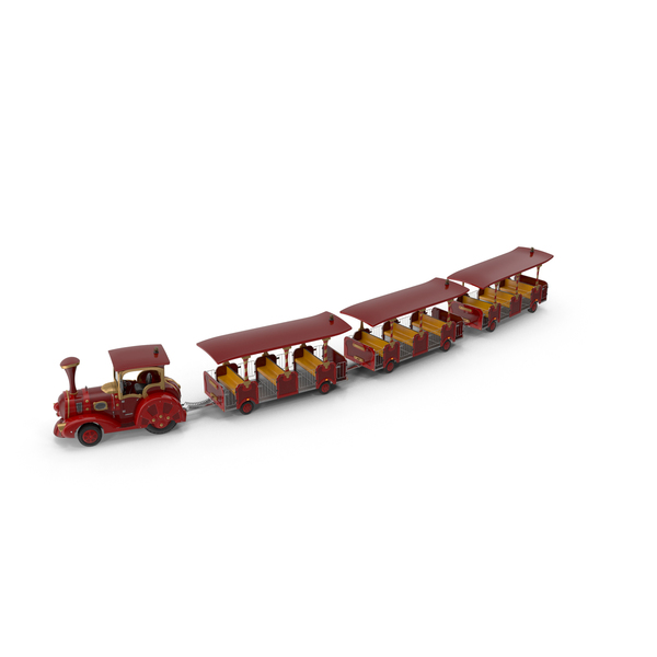 Trackless Red Toy Touristic Christmas Train PNG & PSD Images