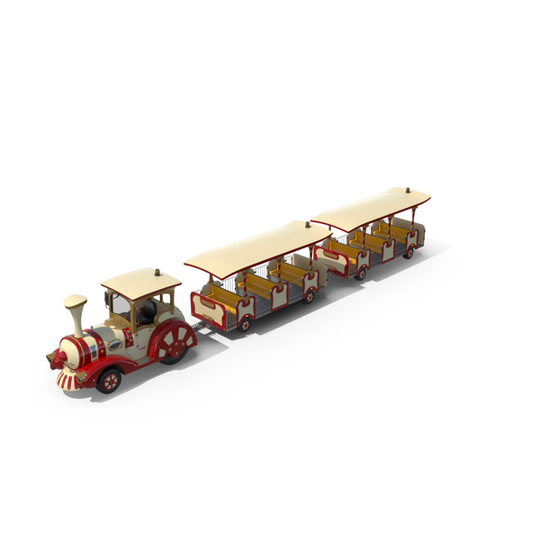 Tourist Trolley: Trackless Touristic Train PNG & PSD Images