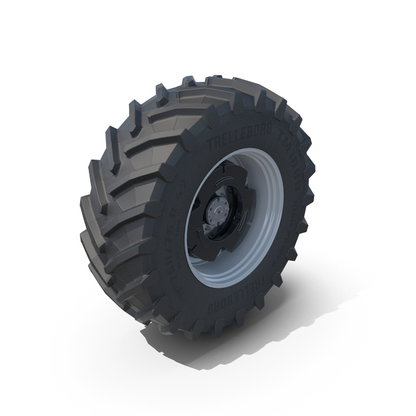 Car Tire: Tractor Wheels Trelleborg 650/68 R34 and 750/75 R42 PNG & PSD Images