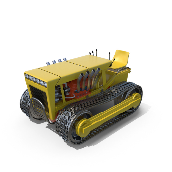 Tractor with Tracks PNG & PSD Images