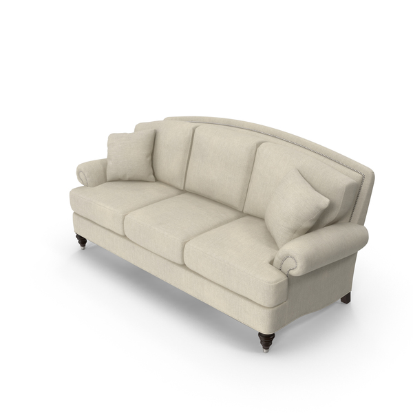 Traditional 3 Seater Sofa PNG & PSD Images