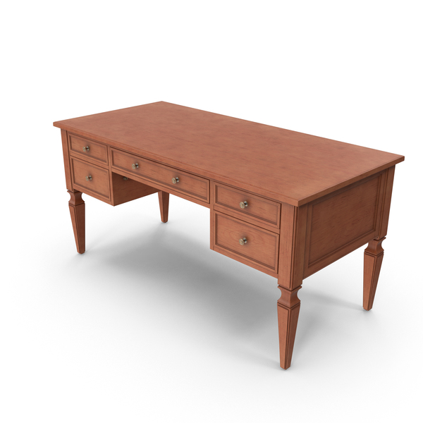 Traditional Desk Brown Finish PNG & PSD Images