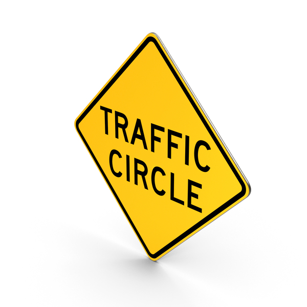 Traffic Circle Road Sign PNG & PSD Images