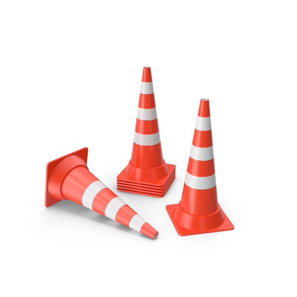Traffic Cones Large PNG & PSD Images
