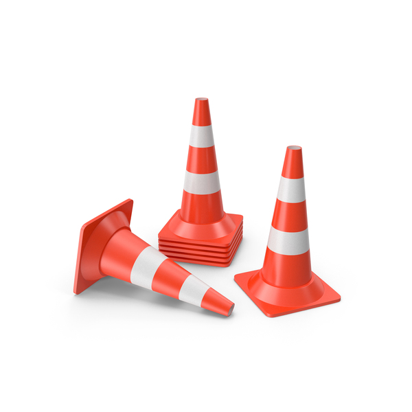 Traffic Cones Medium PNG & PSD Images