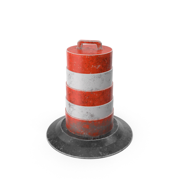Barrel Barricade: Traffic Drum PNG & PSD Images