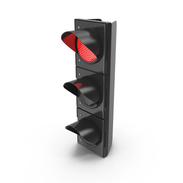 Stop: Traffic Light Single Red PNG & PSD Images