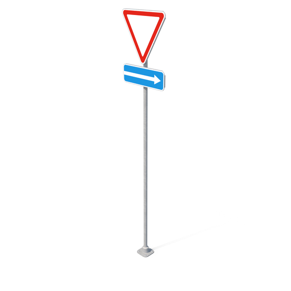 Traffic Sign Give Way PNG & PSD Images