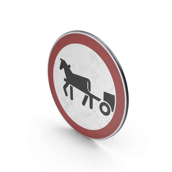 Traffic Sign Horse Drawn Vehicles Prohibited PNG & PSD Images