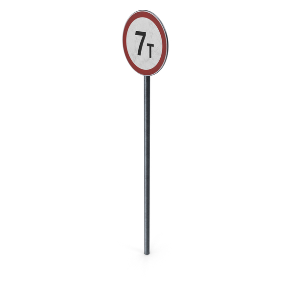 Traffic Sign Mass Limit With Pole PNG & PSD Images