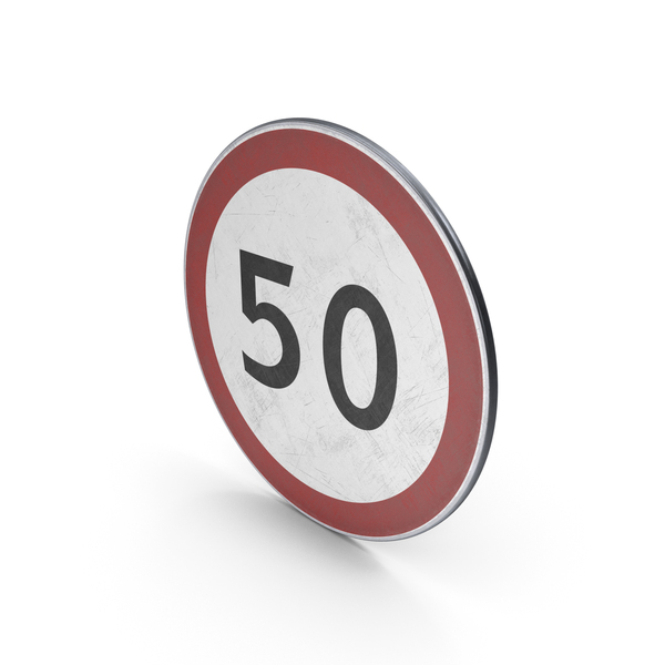 Traffic Sign Maximum Speed PNG & PSD Images