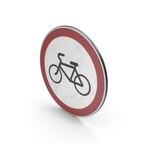 Traffic Sign No Cycling Turn PNG & PSD Images