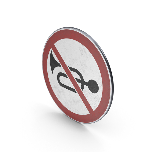 Traffic Sign No Horn PNG & PSD Images
