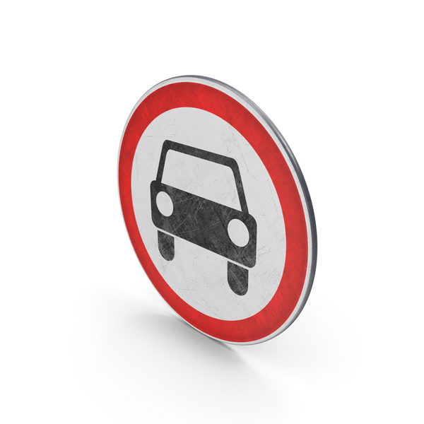 Traffic Sign No Motor Vehicles PNG & PSD Images
