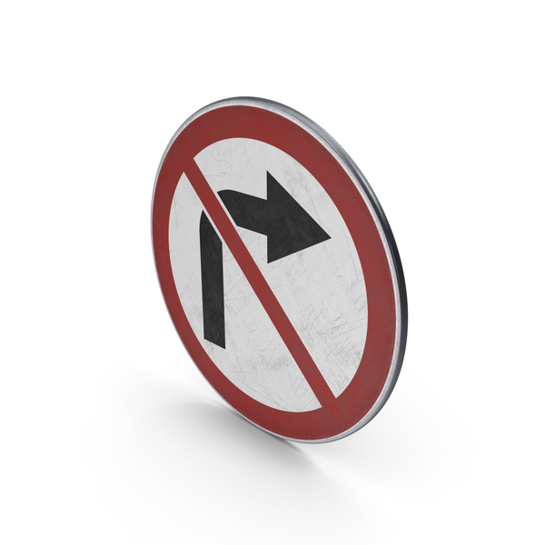 Traffic Sign No Right Turn PNG & PSD Images