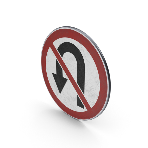 Traffic Sign No U Turn PNG & PSD Images