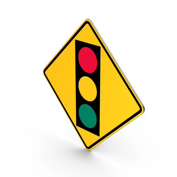 Traffic Signal Ahead Road Sign PNG & PSD Images