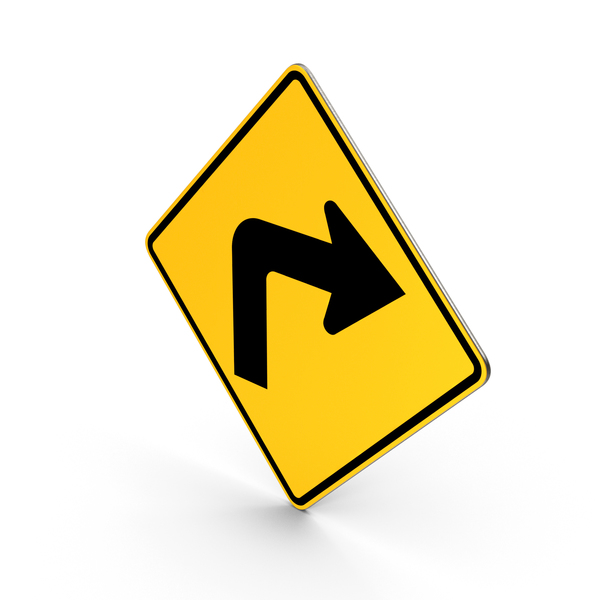 Traffic Turn Right Road Sign PNG & PSD Images