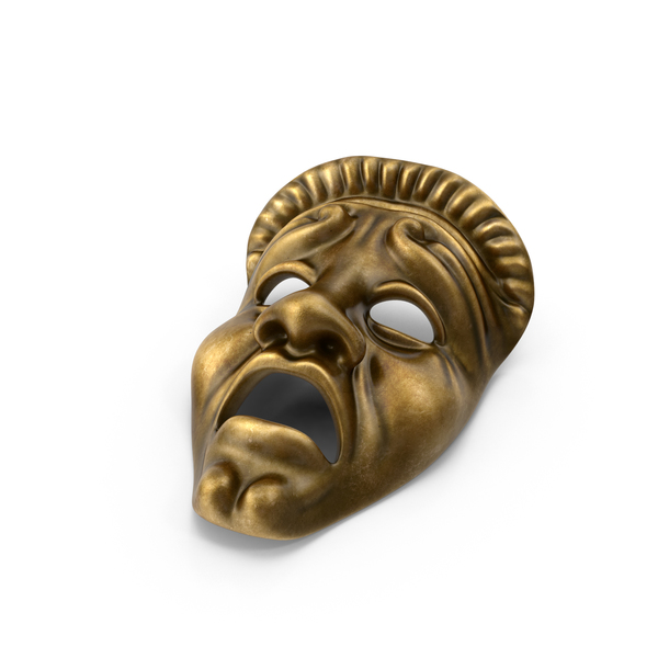 Tragedy Theatre Mask Object