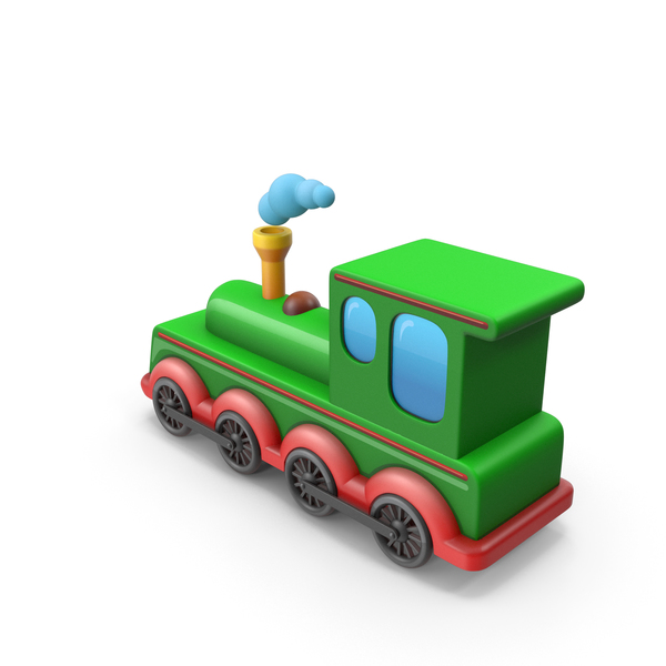 Toy Track: Train Cartoon PNG & PSD Images