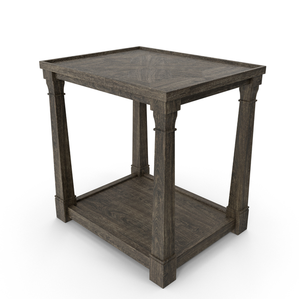 Transitional Side Table PNG & PSD Images