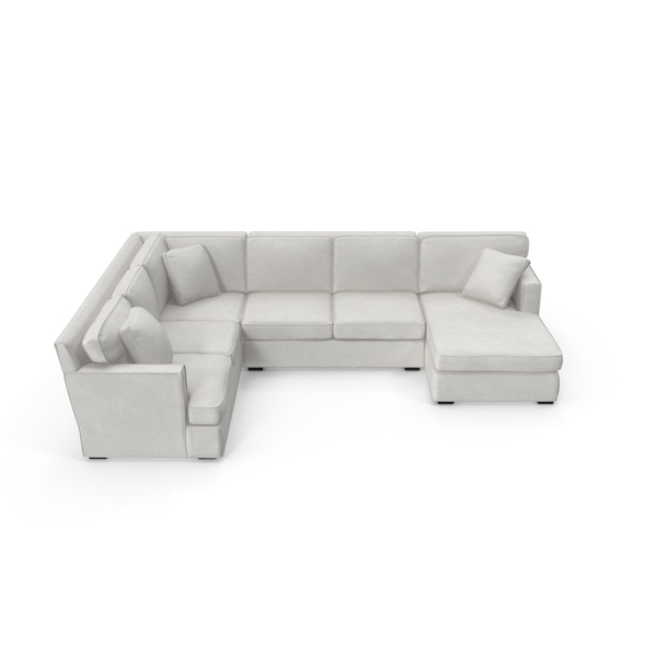 Transitonal Sectional Sofa PNG & PSD Images