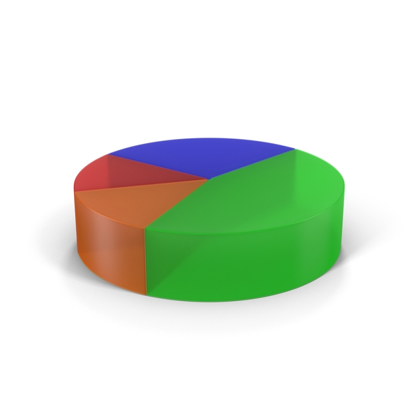 Translucent Multicolored Pie Chart Object