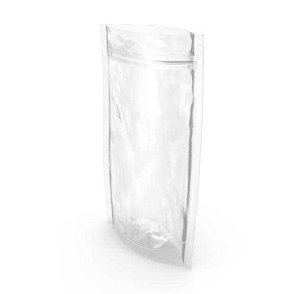 Transparent Plastic Bag Zipper 180 g Open PNG & PSD Images