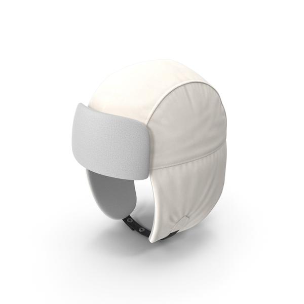 Knit Cap: Trapper Hat White PNG & PSD Images
