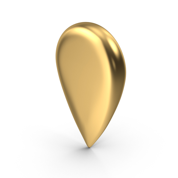 Travel Pin Gold PNG & PSD Images