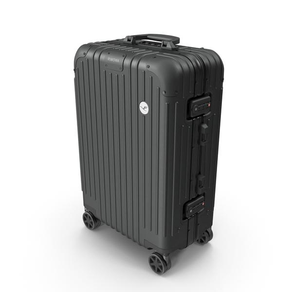 Rolling: Travel Suitcase Rimowa Original Cabin Black PNG & PSD Images