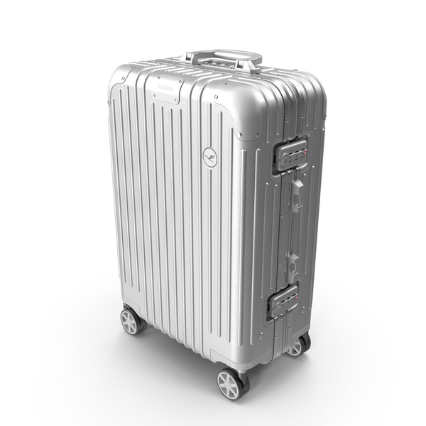 Travel Suitcase Rimowa Original Cabin Silver PNG & PSD Images