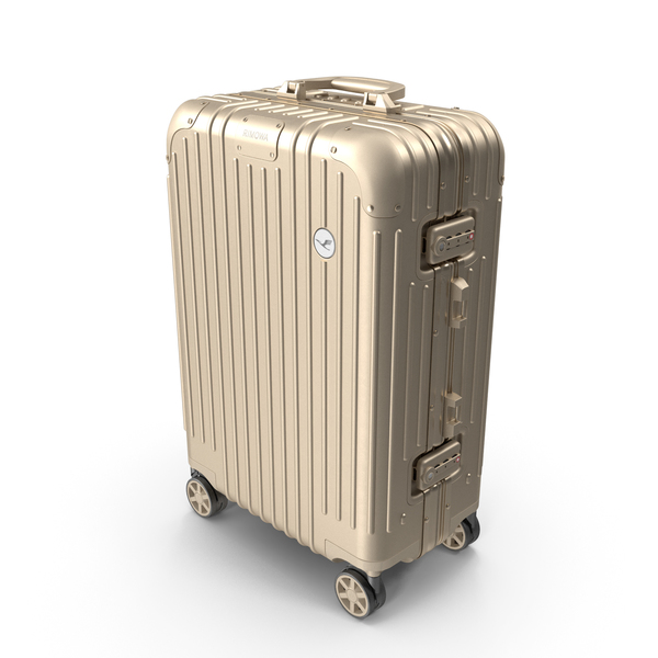 Travel Suitcase Rimowa Original Cabin Titanium PNG & PSD Images