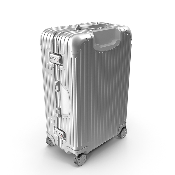 Travel Suitcase Rimowa Original Check-In Silver PNG & PSD Images